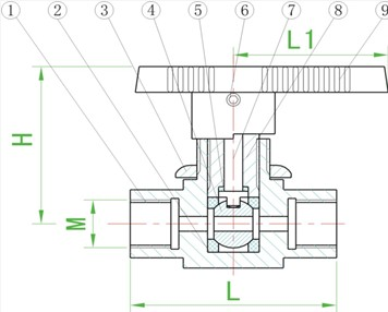 内螺纹球阀q11saf-64图片