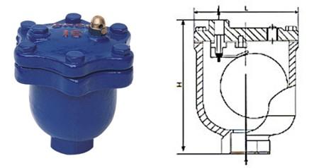 阀-自动排气阀arvx  名  称 材  质 阀 盖 球墨铸铁 阀 座 304不锈钢图片